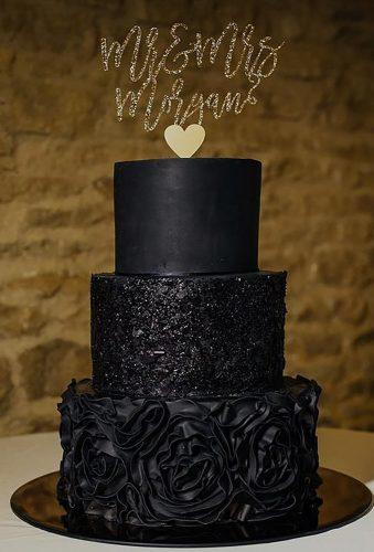 black wedding cake black cake gold cake topper lush imaging