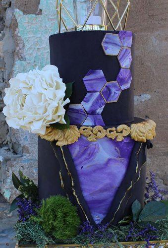 black wedding cake geode black cake ediblesugarart