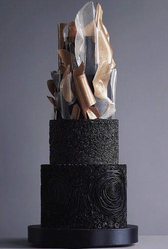 black wedding cake modern black cake tortikannuchka
