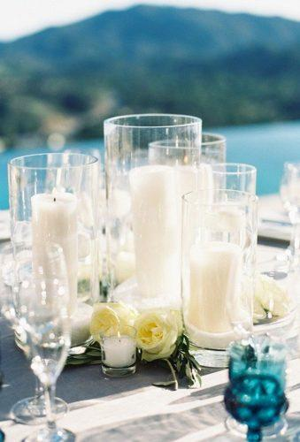 destination weddings decorations candle centerpiece Caroline Tran