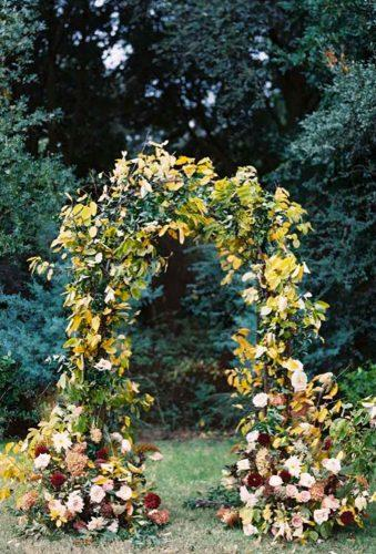 destination weddings decorations fall arch Charla Storey Photography