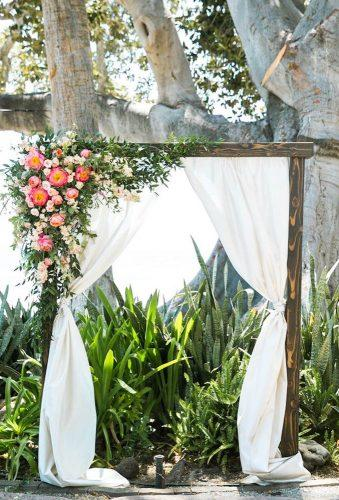 destination weddings decorations white flower arch Jasmine Lee Photography