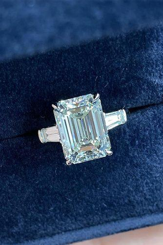 emerald cut engagement rings white gold solitaire diamond