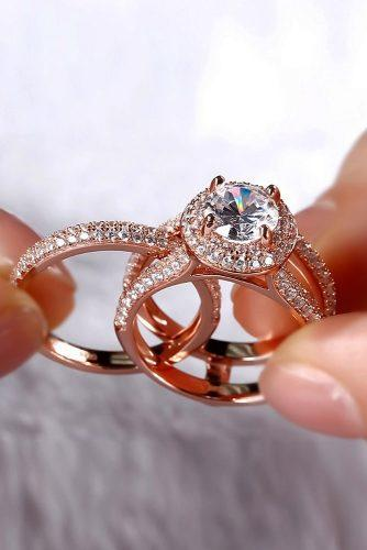 engagement ring trends 2019 rose gold set unique