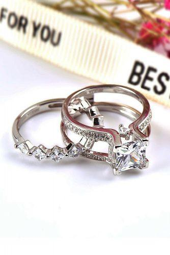 engagement ring trends 2019 white gold set unique