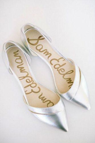 flat wedding shoes simple silver caroline frost photography