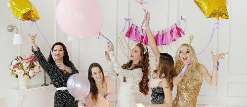 fun bachelorette party games happy girlfriends at the hens party featured