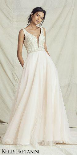 kelly faetanini wedding dresses natural waist peach ballgown Sicilia KF Fall 2019