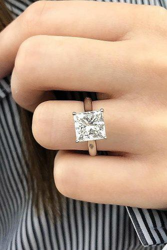 princess cut engagement rings gold classic diamond simple