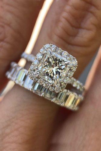 princess cut engagement rings halo diamond diamond set