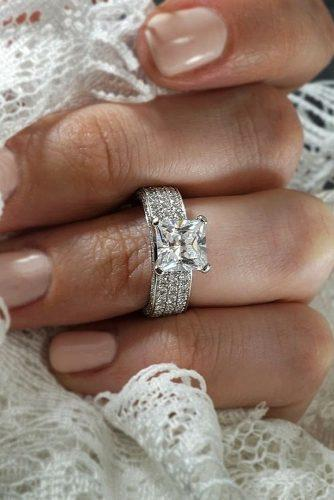 princess cut engagement rings modern solitaire diamond white gold