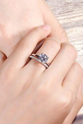 round engagement rings simple classic set white gold solitaire diamond