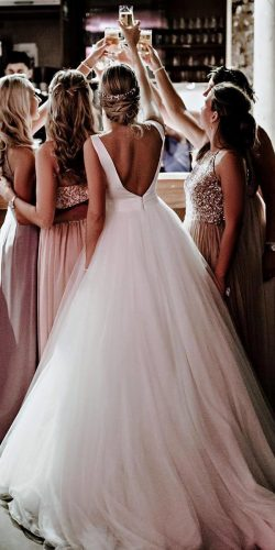 d2d61d6d1c6f3 simple wedding dresses ball gown v back sleeveless rosa clara