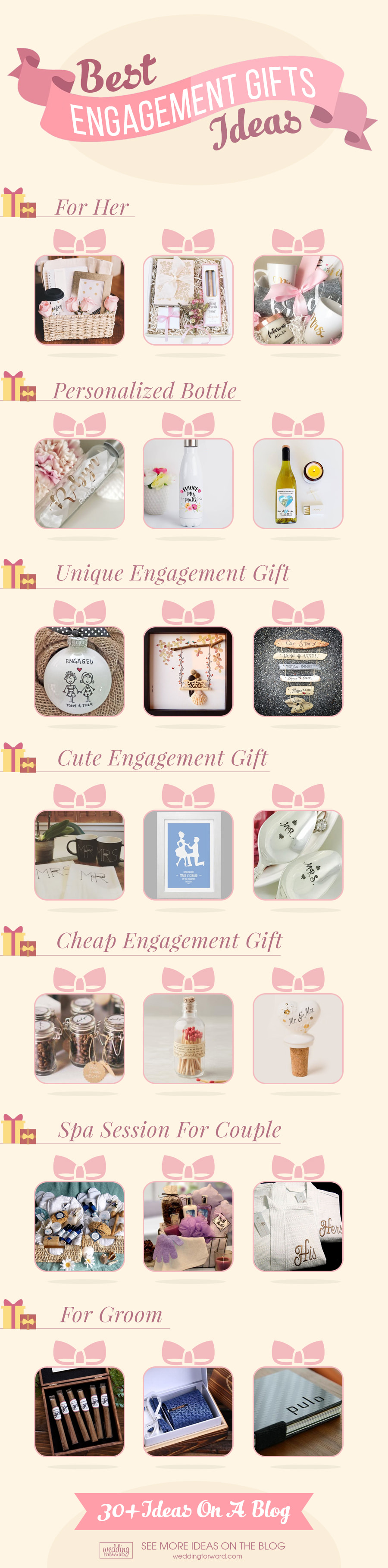 List of engagement gifts ideas