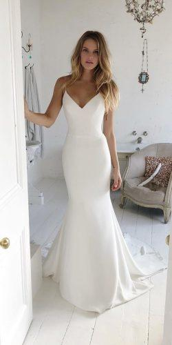 best wedding dresses trumpet simple with spaghetti straps suzanne neville