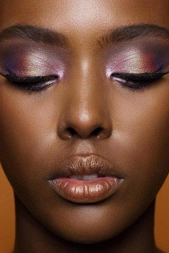 black bride makeup perfect trendy lilac violet eyeshadows natashadenona