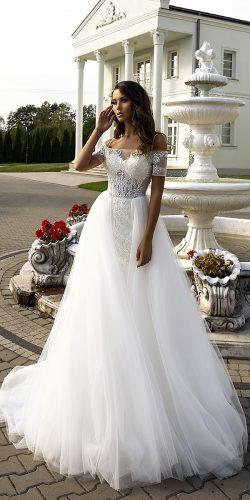 collection love in the palace tina valerdi wedding dresses short sleeves heart shape natural waist 9F8A1374
