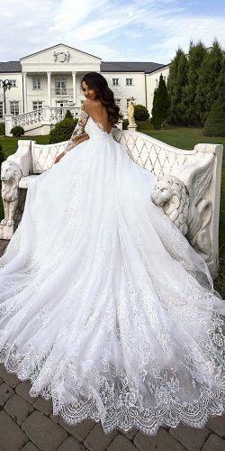 collection love in the palace tina valerdi wedding dresses v shaped back natural waist long sleeves 9F8A1670