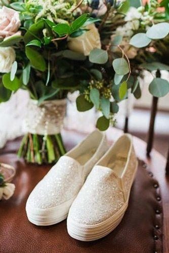 comfortable wedding shoes sleapers sequins simple