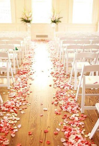 coral wedding decorations coral aisle white flower Binaryflips Photography