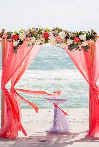 coral wedding decorations coral wedding arch yourdreambeachwedding
