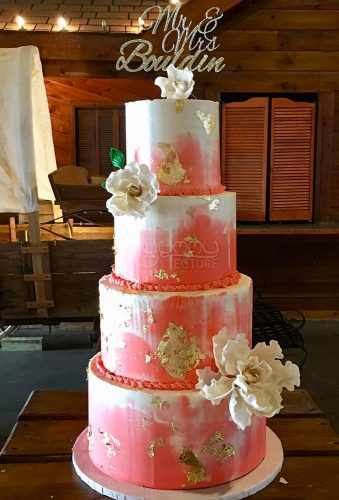 coral wedding decorations coral wedding cake big flower yummytecture