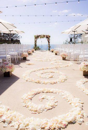 destination weddings decorations flower aisle Clove Kin