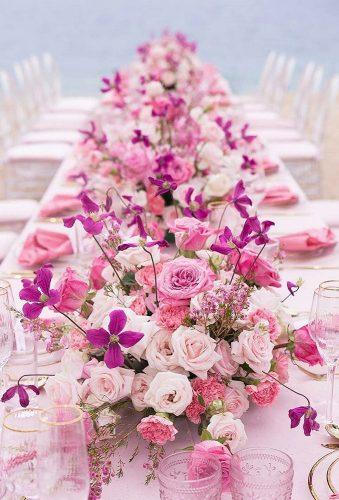 destination weddings decorations pink table centerpiece oyalswansevent