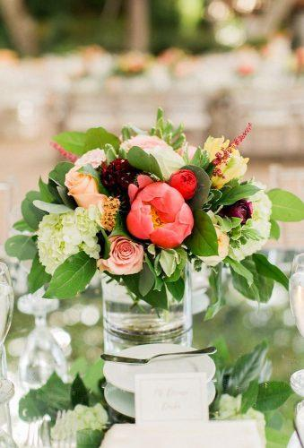 destination weddings decorations simple flower centerpiece Koman Photography