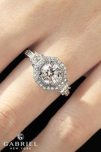 gabriel co engagement rings halo modern white gold round cut