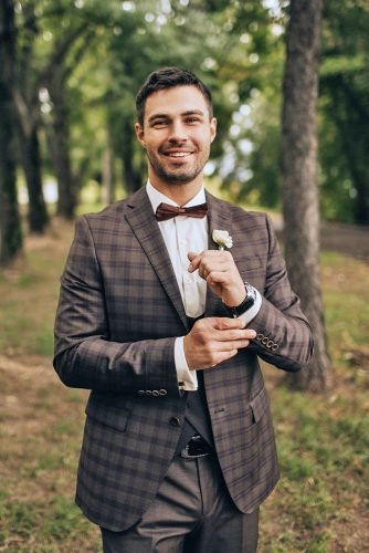 suits plaid jacket with bow tie country rustic olganikiforov