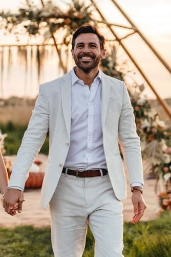 groom suits white jacket with white shirt country emmahillfilmphotography