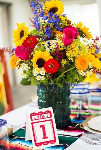 mexican wedding decor flower centerpiece Candy Acosta Photography