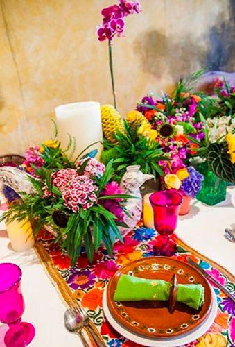 mexican wedding decor flower table decor ellivingdefrida
