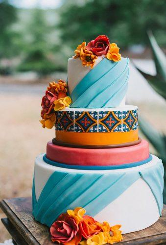 mexican wedding decor modern cake Shannon Rosan Photography