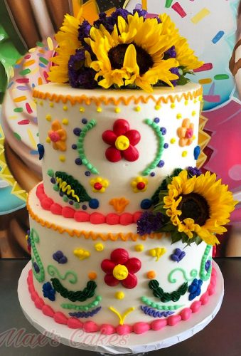 mexican wedding decor sunflower cake maxscakes
