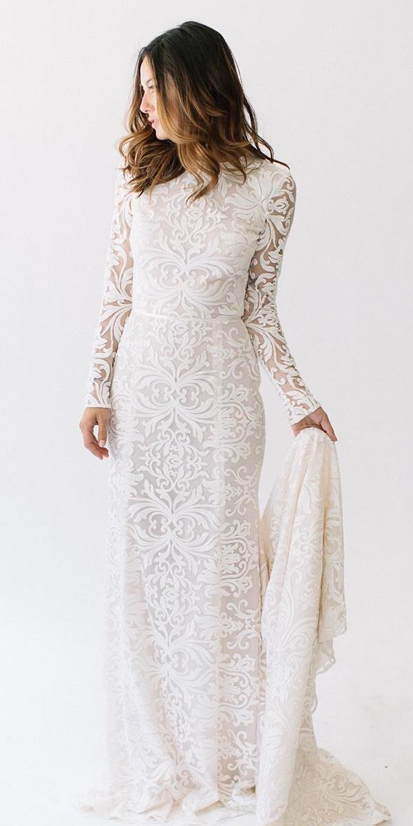modest wedding dresses sheath wth long sleeves lace daalarna couture
