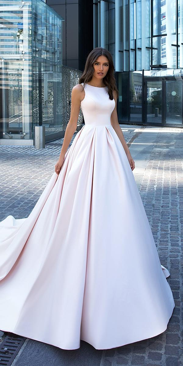 modest wedding dresses simple ball gown sleeveless crystaldesign couture