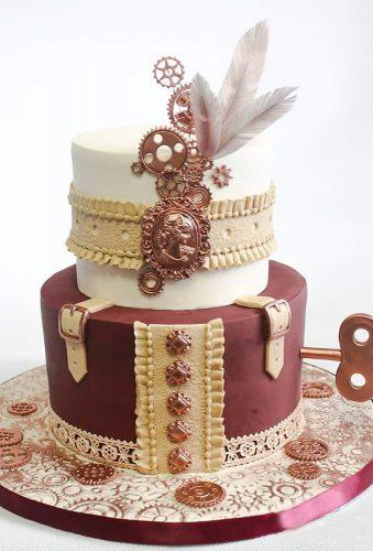 steampunk wedding decorations burgundy cake me gateaux terrebonne