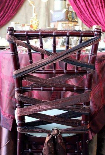 steampunk wedding decorations burgundy chairs afloral