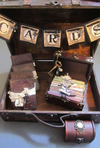 steampunk wedding decorations cards box trusted