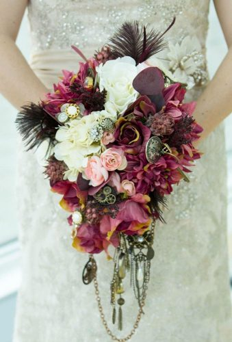 steampunk wedding decorations casade wedding bouquet forgetmenotsphotography
