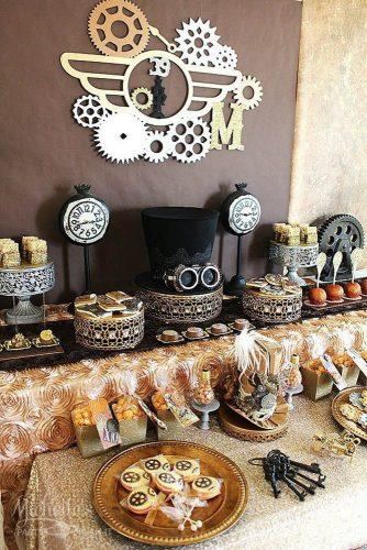 steampunk wedding decorations hat in candy michellespartyplanit