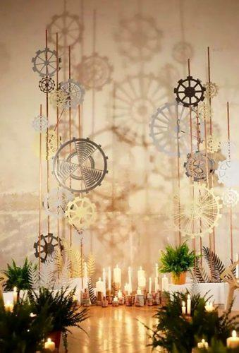 steampunk wedding decorations steampunk arch Laurent Picolillo Studio