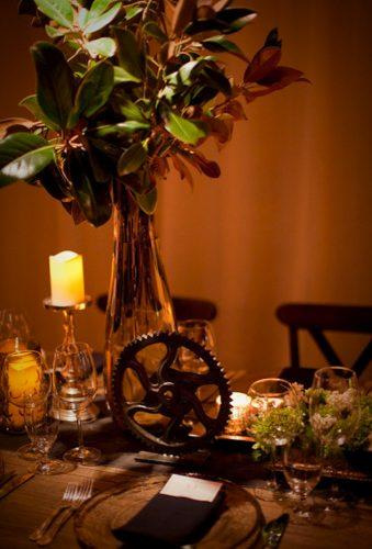 steampunk wedding decorations table decor alyssanicol