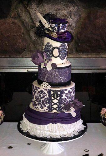 steampunk wedding decorations violet cake sweetvelvetcakecompany