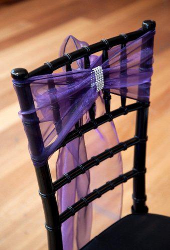 steampunk wedding decorations violet tulle on chair jenniferklementti
