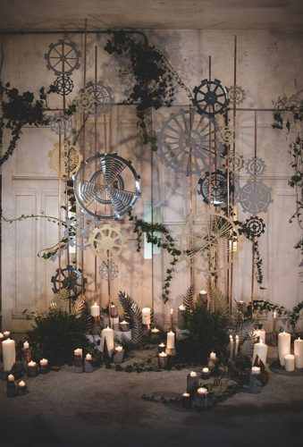 steampunk wedding decorations wedding arch lafemmegribouillage