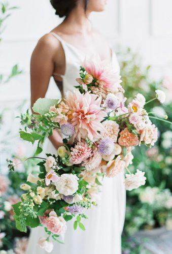 wedding bouquets 2019 big bloom in casacade bouquet bowsandarrowsflowers