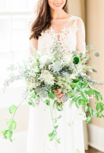 wedding bouquets 2019 green wedding bouquet Koman Photography
